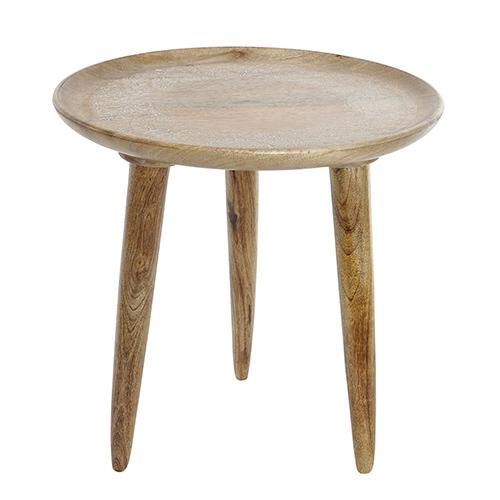 Masuta Mandala din lemn de mango maro 55 cm chicville 2021