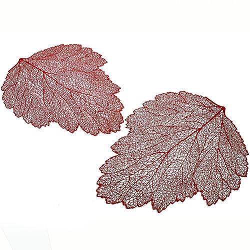 Napron frunza rosu 37x47 cm chicville 2021