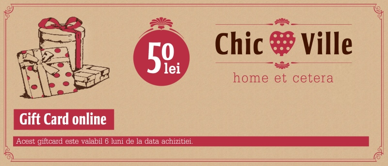 Gift Card Chic Ville 50 lei chicville 2021