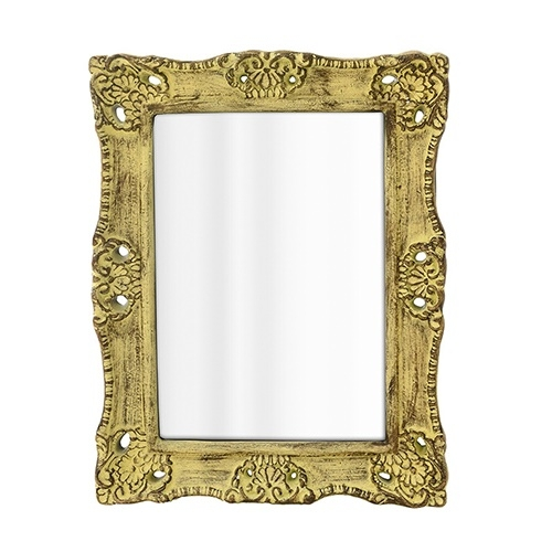 Oglinda Antique din polirasina galbena 51x40 cm chicville 2021