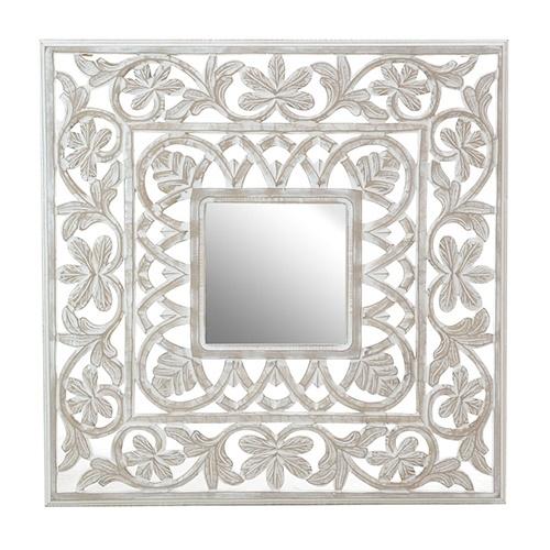Oglinda Flora din lemn 80x80 cm chicville 2021