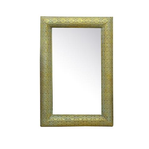 Oglinda Eleganzza din metal auriu 80x8x126 cm