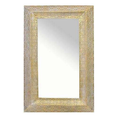 Oglinda Mistero din metal auriu 63x7x100 cm