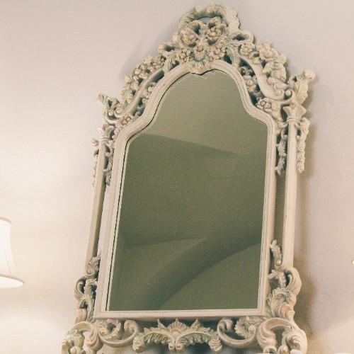 Oglinda Romance White gold 90x135 cm chicville 2021