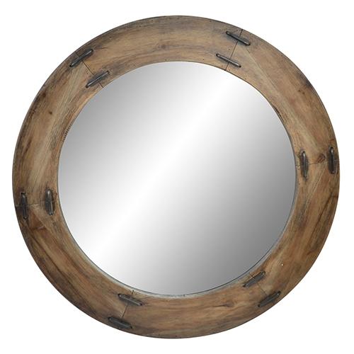Oglinda rotunda Romance din lemn 88 cm