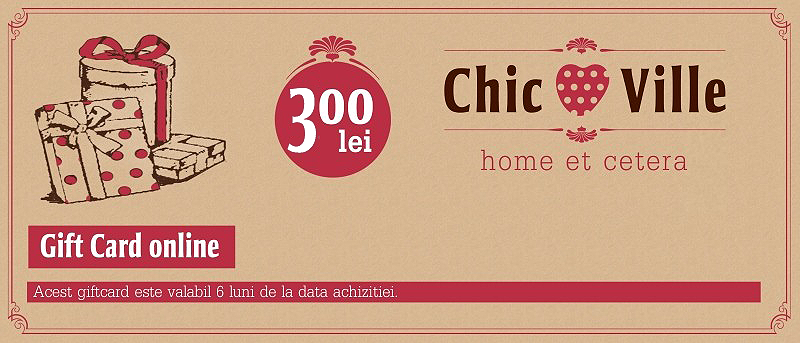 Gift Card Chic Ville 300 lei chicville 2021