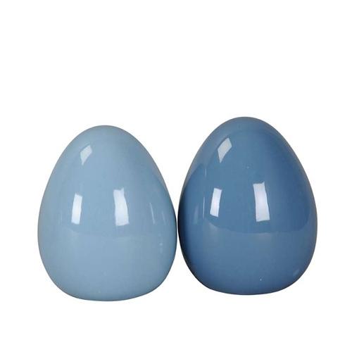 Ou decorativ din ceramica albastra 9.5x12 cm - modele diverse chicville 2021
