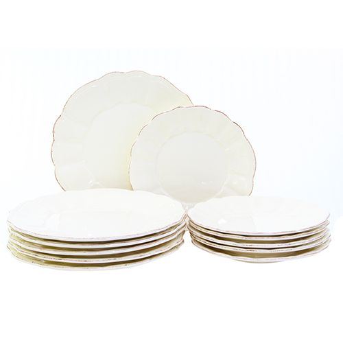 Pachet cu 12 farfurii Royal Ivory din ceramica 21 cm chicville 2021
