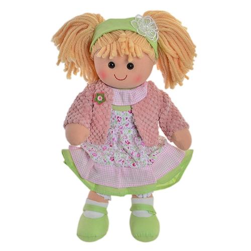 Papusa Pink din textil 35 cm - modele diverse chicville 2021