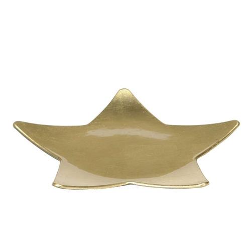 Platou auriu in forma de stea 24 cm chicville 2021