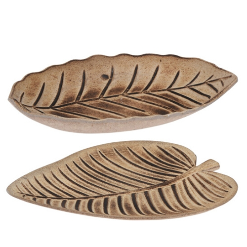 Platou deco Tropical Leaf din lemn aprox 32x28 cm - 2 modele chicville 2021