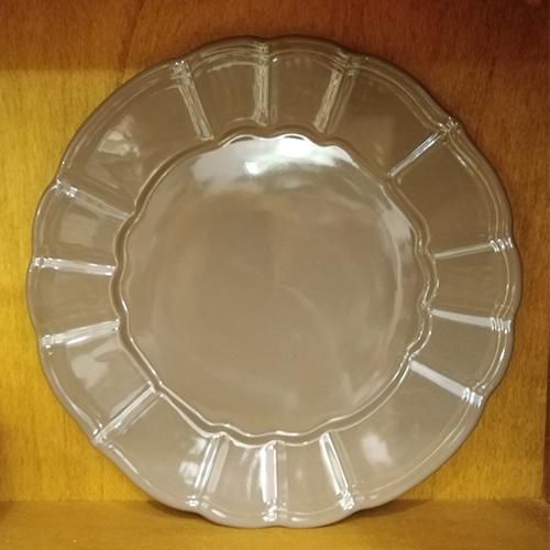 Platou Delicacy taupe din ceramica 32 cm chicville 2021