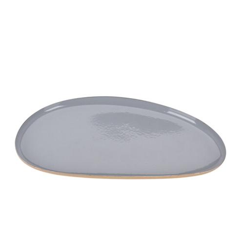Platou oval Pebble din metal gri 21x11 cm - modele diverse chicville 2021