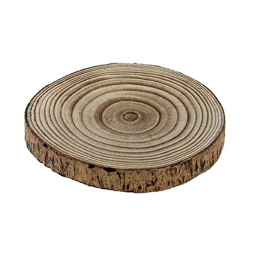 Platou Paulownia din lemn natur 20x2.5 cm chicville 2021