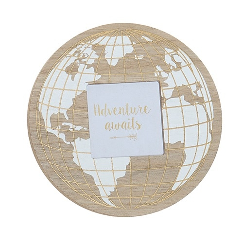 Rama foto Map din lemn alb 21 cm chicville 2021