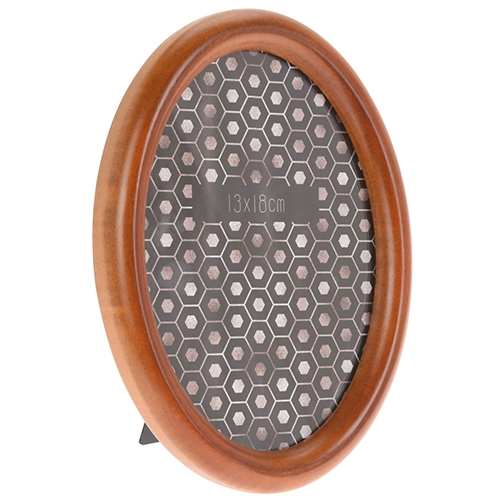 Rama foto ovala Wooden din lemn maro 15x20 cm chicville 2021