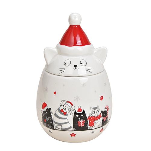 Recipient Cats din ceramica alba 11x18 cm chicville 2021
