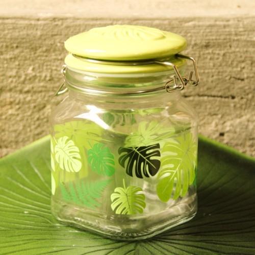 Recipient din sticla Leaves 16 cm chicville 2021