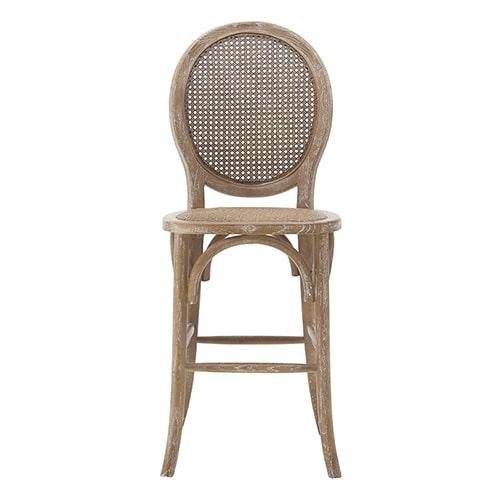 Scaun Antique Brown din lemn si ratan 45x42x111 cm chicville 2021