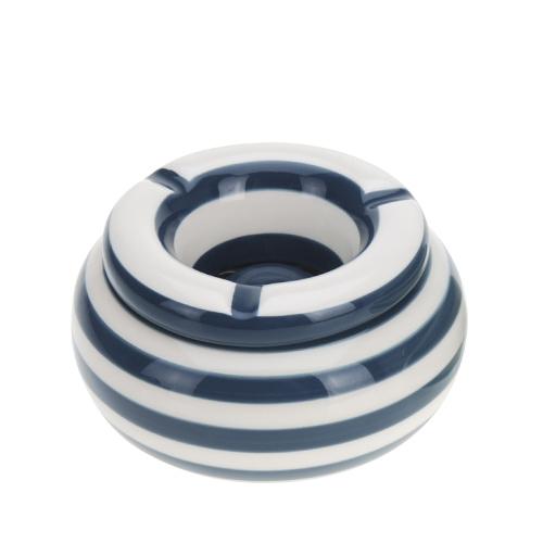 Scrumiera Lines din ceramica albastra 6cm chicville 2021