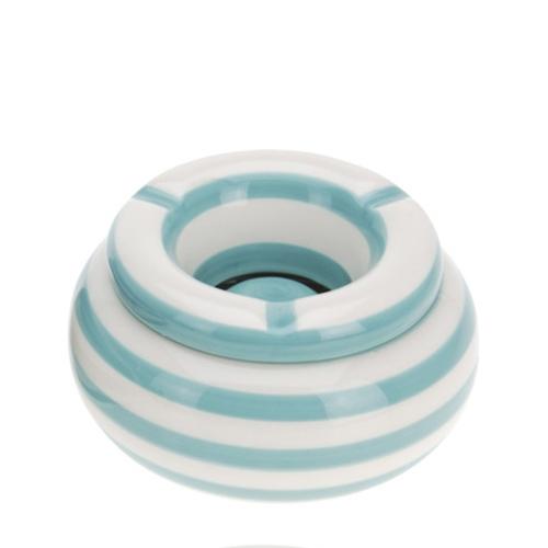 Scrumiera Lines din ceramica turcoaz 6cm chicville 2021