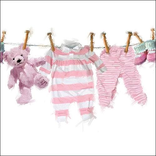 Servetele Baby Girl Clothes 25x25 cm chicville 2021