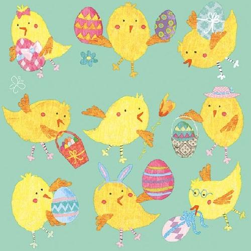 Servetele Easter Chicks 25x25 cm chicville 2021