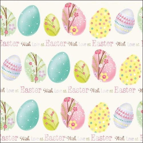 Servetele Easter Love 33x33 cm chicville 2021