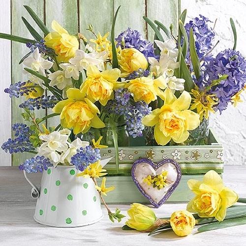 Servetele Flower Mix 33x33 cm chicville 2021
