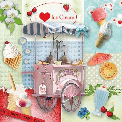 Servetele Ice Cream 33x33 cm