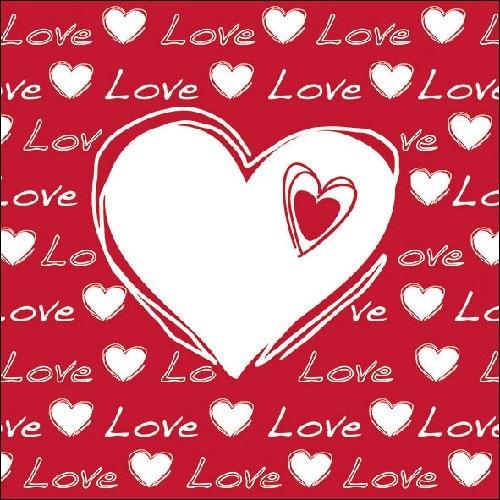 Servetele Love Heart 33x33 cm chicville 2021