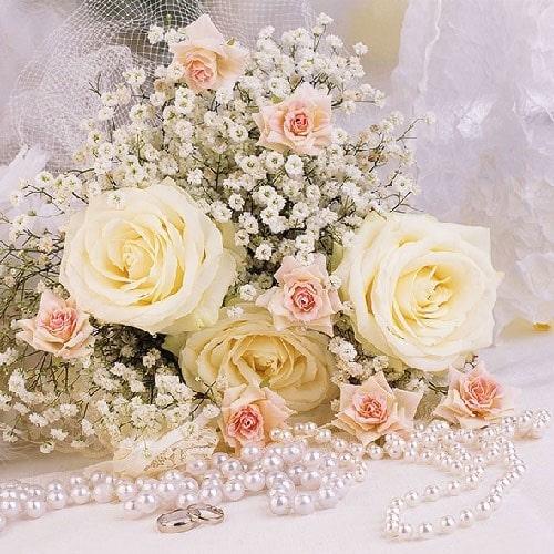 Servetele Roses Pearls 33 cm chicville 2021