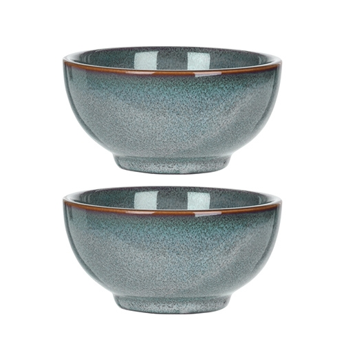 Set 2 boluri din ceramica albastra 12 cm - diverse modele chicville 2021
