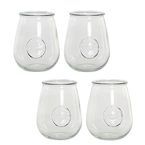 Set 4 pahare Vintage din sticla 10x13 cm chicville 2021
