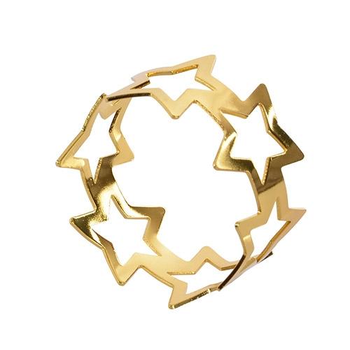 Set 6 inele aurii pentru servetele 5x3 cm chicville 2021