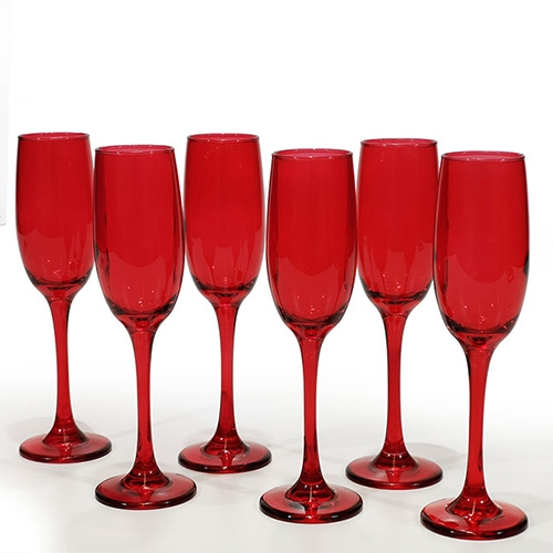 Set 6 pahare Reddish din sticla 20 cm chicville 2021
