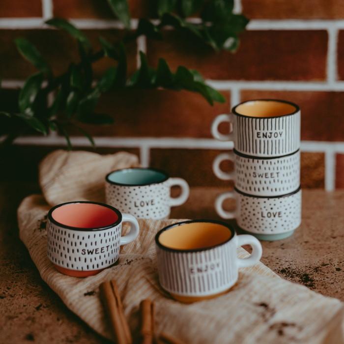 Set 6 cesti Colors din ceramica chicville 2021