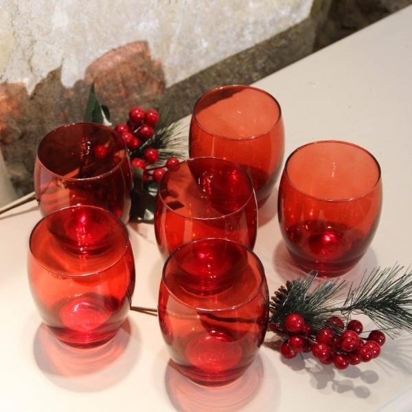 Set cu 6 pahare Reddish din sticla chicville 2021