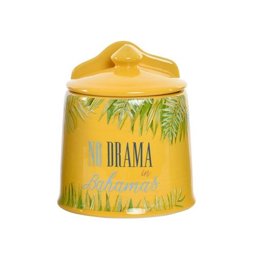 Solnita Yellow Bahamas din ceramica 14 cm
