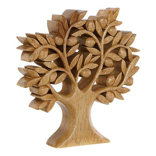 Statueta Tree din lemn sculptat 30 cm chicville 2021