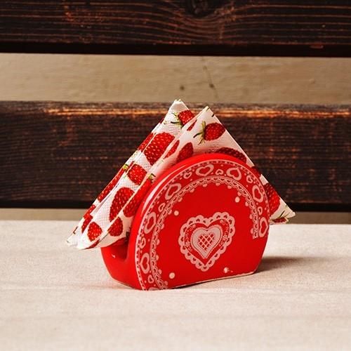 Suport din ceramica rosie pentru servetele 9 cm chicville 2021