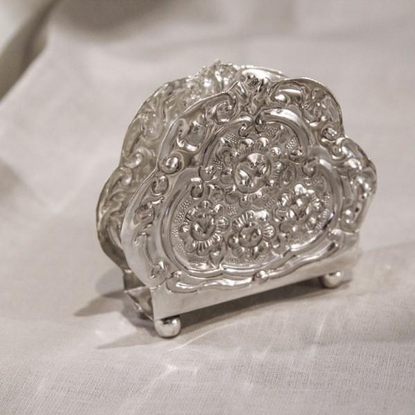 Suport pentru servetele Sheffield din cupru argintat 11x3.5 cm chicville 2021