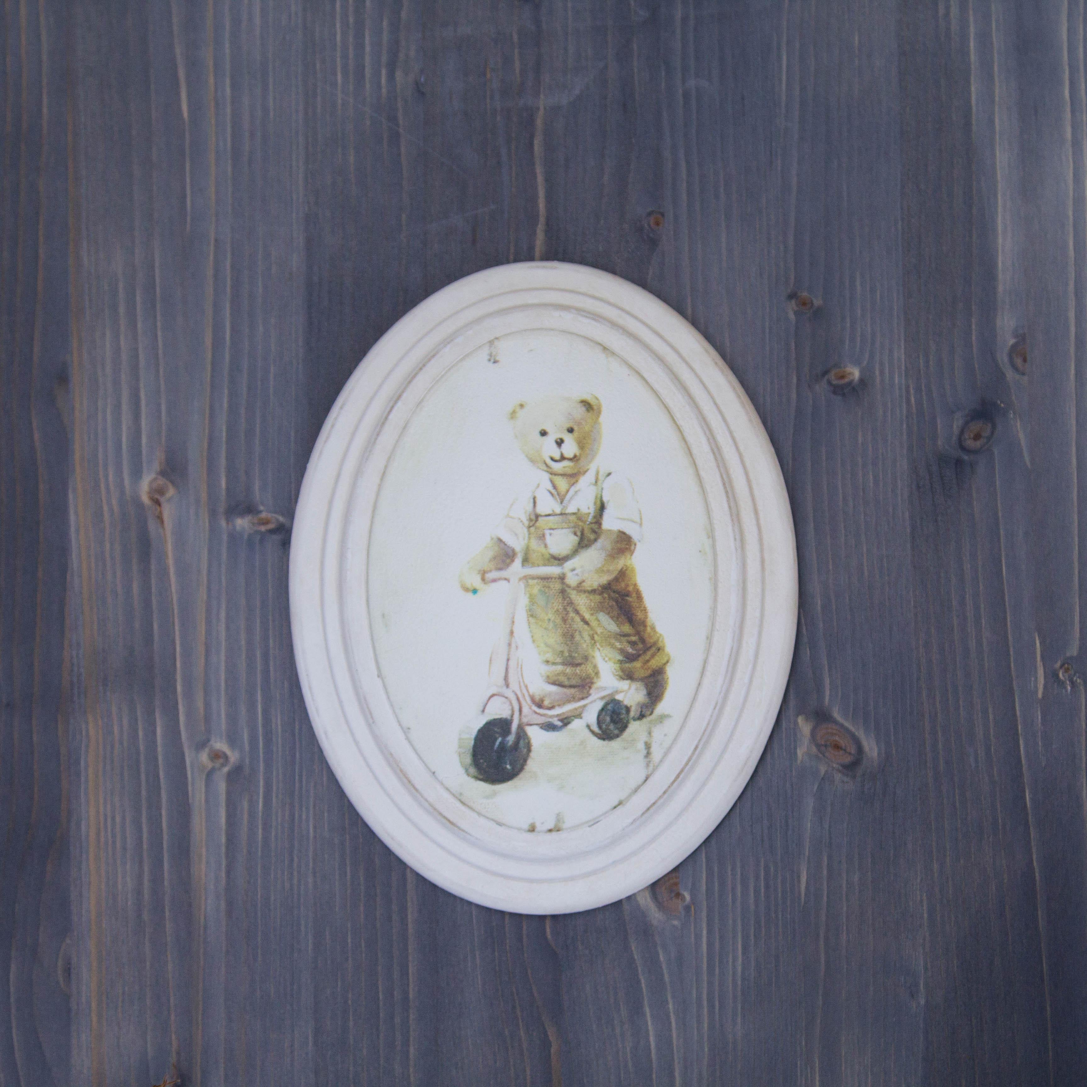 Tablou Bear Boy din lemn 17x22x4 cm chicville 2021