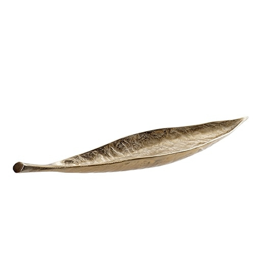 Tava aurie Leaf din metal 76x16x8 cm chicville 2021