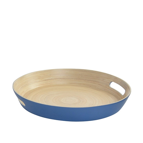 Tava Bamboo din lemn albastru 38 cm imagine