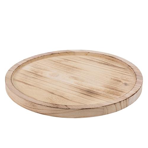 Tava rotunda Classic din lemn natur 27 cm chicville 2021