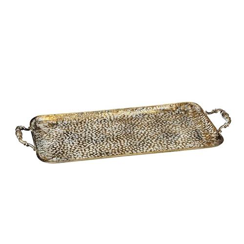Tava Vintage din metal auriu 45x25 cm chicville 2021