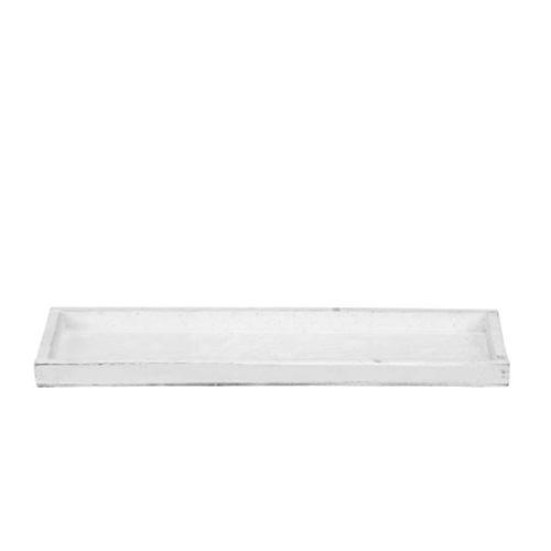 Tava Blanche din lemn alb 40x13 cm imagine