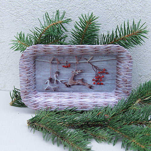 Tava Christmas din metal 11.5 cm imagine