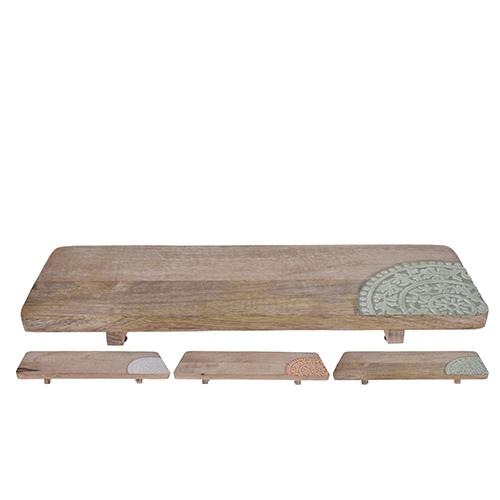 Tocator Boho din lemn 50x16 cm - modele diverse chicville 2021